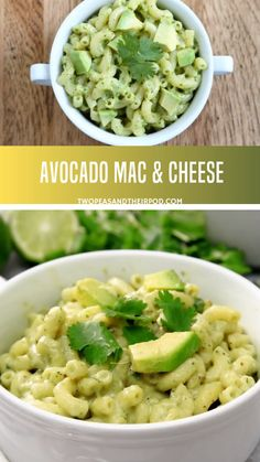 If you are an avocado lover, you will go crazy for this avocado mac and cheese vegan gluten-free recipe! Avocado mac and cheese is creamy, cheesy, and comforting perfect for busy weeknights. Just combine everything in a big bowl and devour! Vegan Mac And Cheese, Avocado Mac And Cheese, Baby Mac And Cheese Recipe, Creamy Avocado Pasta, Avocado Toast, Seafood Recipes, Vegetarian Recipes, Healthy Recipes, Cheese Recipes
