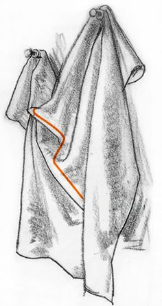 How to draw folds in clothing -