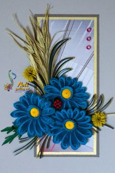 Quilled fringed flower card