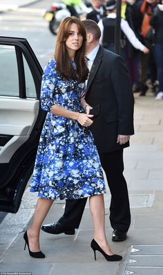 The Duchess of Cambridge, 33, looked chic in a dress by Tabitha Webb as she joined Princes...
