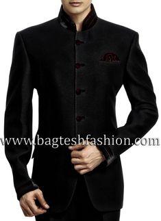 Designer Black Wedding Jodhpuri Suit