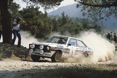 Brilliant Shot of Ari Vatanen in the 1981 Acropolis Rally