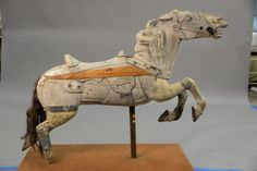 Carousel horse, partially restored (stripped) ~ Realized Price $1,680.00