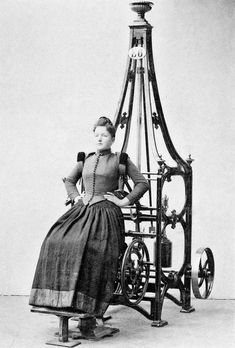 Victorian-era exercise machine - wonder if they became laundry racks even back then.