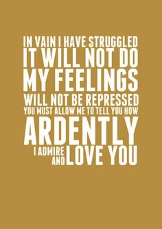 Mr Darcy confession