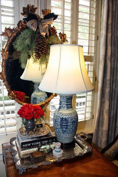 Simple Pleasures: Mary Carol Garrity's Christmas Open House 2013, Part 2, the Foyer, the Study, and the Living Room