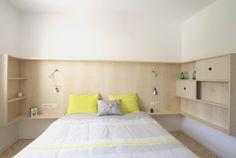 Tête de lit design et astucieuse... #bedroom