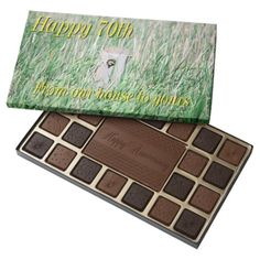 Happy 70th Anniversary From Our House To Yours Assorted Chocolates - you deserve it! Tap/click for yours!