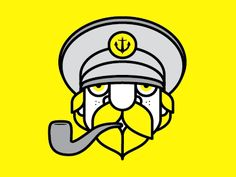 Dribbble - The Sea Captain by Carl Bender