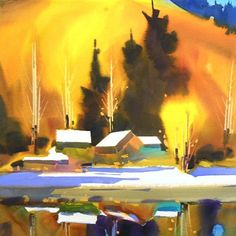 Frank Francese Art Workshop: Watermedia (Acrylic/Watercolor) Workshop, June 26-30, 2017 - The goal of this watercolor art workshop is for you to build confidence in trying different approaches to painting and to have faith in your ability to produce quality artwork. Learn to work quickly and with confidence using lots of bold, bright colors... #ArtEd #LearnToPaint #LearnArt