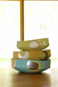 Silly pots just wanna have fun!  Stoneware vessels made by Jill Zeidler