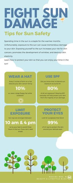 Protecting your skin from the sun is so important. Follow these healthy tips to keep your skin happy and healthy while outdoors. Remember to reapply sunscreen often. Prevention is the best treatment!