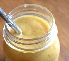 This spicy honey-mustard dressing is great on a salad or as a sauce for chicken or fish! Honey Mustard Salad Dressing, Honey Mustard Sauce, Mustard Recipe, Honey Sauce, Sauces, Raw Apple Cider Vinegar, Balsamic Vinegar, Dips, Antipasto