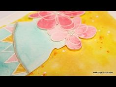 Step by step video on creating a card using izink inks. http://www.clips-n-cuts.com/2015/09/celebrate-card-and-giveaway/ ——— S U P P L I E S ——— • Oh So Fun ...