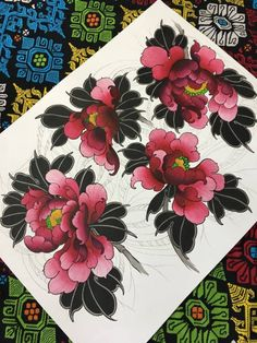 New Tattoo Designs Drawings Inspiration Style Ideas Japanese Peony Tattoo, Japanese Tattoo Symbols, Japanese Tattoo Designs, Japanese Sleeve Tattoos, Japanese Flowers, New Tattoo Designs, Tattoo Design Drawings, Tattoo Designs And Meanings, Top Tattoos