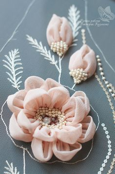 Wonderful Ribbon Embroidery Flowers by Hand Ideas. Enchanting Ribbon Embroidery Flowers by Hand Ideas. Tambour Embroidery, Couture Embroidery, Embroidery Fashion, Hand Embroidery, Embroidery Supplies, Embroidery Patterns, Eyebrow Embroidery, Embroidery Books, Flower Embroidery Designs