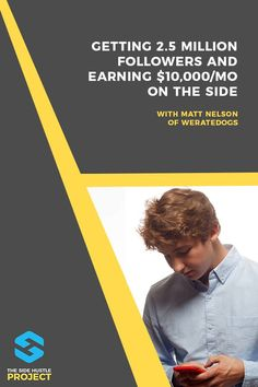 In today's episode, we're chatting with Matt Nelson, the 20 year old creator of WeRateDogs, the Twitter sensation with more than 2.8 million followers. We cover how he grew to several thousand followers in just a few days, how he's earned $50,000 from this side hustle, and much more...