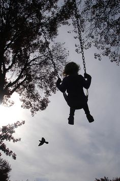 Swinging high and higher.....so happy, new freedom, weight off