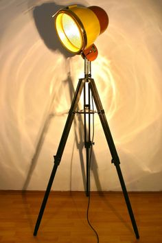 Tripod Lamp from old dryer  Industrial loft vintage retro floor lamp