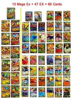 New 2016 Handmade Pokemon Cards Promotion Set of 60 by MegaExCard