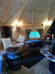 Internal ideas for your BBQ log cabin. Think party hut, outside office, treatment room, gym or just additional space for your home.