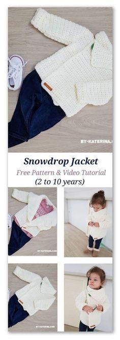 Snowdrop cardigan - free crochet pattern! #crochet #freecrochet #freecrochetpattern