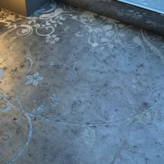 stenciled concrete floors