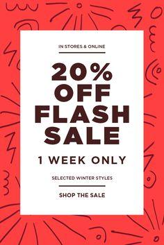 off flash sale Sale Gif, Email Template Design, Email Design Inspiration, Creative Poster Design, Promotional Design, Newsletter Design, Sale Banner, Sale Poster, Social Media Design