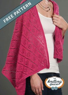 Looking for dainty and versatile knitwear to complete your daily outfits? Try your hands on this exquisite knitted lace shawl that easily converts into a scarf. This also makes for a lovely handmade present for a dear friend. | Discover over 3,500 free knitting patterns at theknittingspace.com   #knitpatternsfree #handmadegifts #giftideas #DIY #fallknittingpatterns #fallknittingprojects #autumnoutfits #autumncrafts
