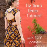 Tie Back Dress Tutorial – 30 Days of Sundresses