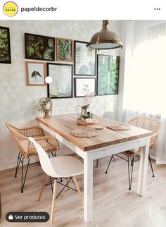 Bohemian furniture as a rule isn't found in a store. These rooms will in general be loaded up with furniture gathered after some time, so second-hand and… Dining Room Design, Dining Room Furniture, Living Room Decor, Bedroom Decor, Bohemian Furniture, Dining Room Inspiration, Kitchen Decor, Sweet Home, Dining Table