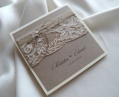 Rustic Wedding InvitationVintage Lace Wedding by JRTDaisy on Etsy, zł15.00