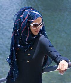 nautical hijab/scarf - aabuk