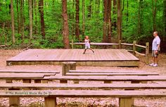 Amphitheater in the woods where they have performances for children at Burke Lake Park... Burke, VA