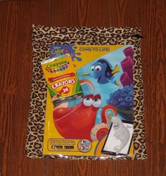 Cheetah zippered pouch with vinyl front by ChildishThoughts