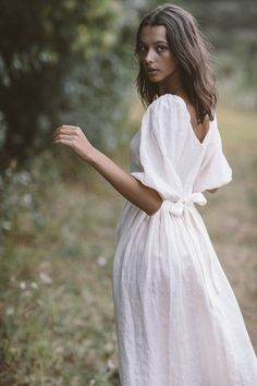 The bellflower midi dress in cream (pre order) — Kara Thoms Couture Fashion, Boho Fashion, Fashion Outfits, Selfies, Moda Boho, Whimsical Fashion, White Midi Dress, Beautiful Gowns, Special Occasion Dresses