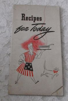 Recipes For Today 1943 General Foods by Starrylitvintage on Etsy