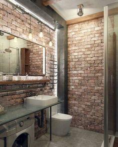 Stunning bathroom designed by Rogov Studio. #bathroom #apartment #homeinspo #loft #homesweethome #homeinspiration #home #interiordetails #architecture #homeinterior #homedesign #homedecor #interiordesign #interiordecor #dreamhouse #dreamhome #luxurydesign #luxurydecor #luxuryhomes #luxury #interior #design #bathtime #house #decor #home #lights #brick #mirror - Architecture and Home Decor - Bedroom - Bathroom - Kitchen And Living Room Interior Design Decorating Ideas - #architecture #design…