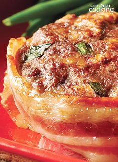 Make-Ahead Cheesy Bacon Mini Meatloaves #recipe