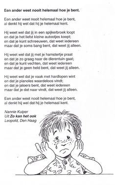 gedichtje van Nannie Kuiper Close Reading, Life Quotes, Poetry, Classroom, Teaching, Children, Seo, Forget, Projects