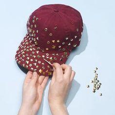 DIY Spikes   DIY Studded Baseball Cap   DIY Hat DIY Refashion  b5f5d30c47d9
