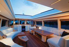 Top deck yacht interior #boating #yacht #sailing #sailboat #luxury #fishing