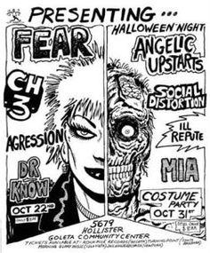 Fear//CH3//Agression//Dr. Know//Angelic Upstarts//Social Distortion//Ill Repute//M.I.A.
