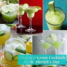 Nine clever bloggers show how to use fruits and vegetables to make green cocktails for St. Patrick's Day. Antioxidants with your aperitif? Good as gold!