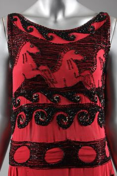 Cocktail dress, possibly a pret a porter version of 'Little horses' evening dress by Vionnet et Cie, for Wanamakers, American, 1926.
