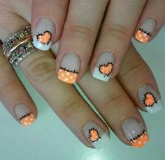 Cute-Stitching | Easy DIY Halloween Nail Designs Ideas