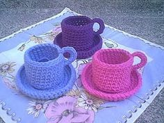 Christine's Crocheted Teacup By Christine M. Freeman - Free Crochet Pattern - *(christinesflowers) ༺✿Teresa Restegui http://www.pinterest.com/teretegui/✿༻