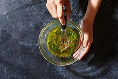 How to leave those bottled dressings behind and make your own vinaigrette - The Washington Post Creamy Salad Dressing, Make Your Own, How To Make, Light Recipes, Vinaigrette, How To Dry Basil, Bbq, Herbs, Leaves