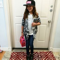 She is ready to conquer the first day of school...next...the world! #myprincessisgrowingup