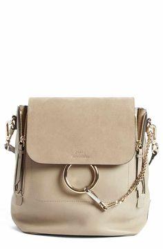 1527ae42e59c Chloé Medium Faye Suede   Leather Backpack Chloe Faye Backpack